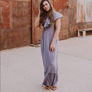 Wren and Ivory XL Amethyst Maxi Dress